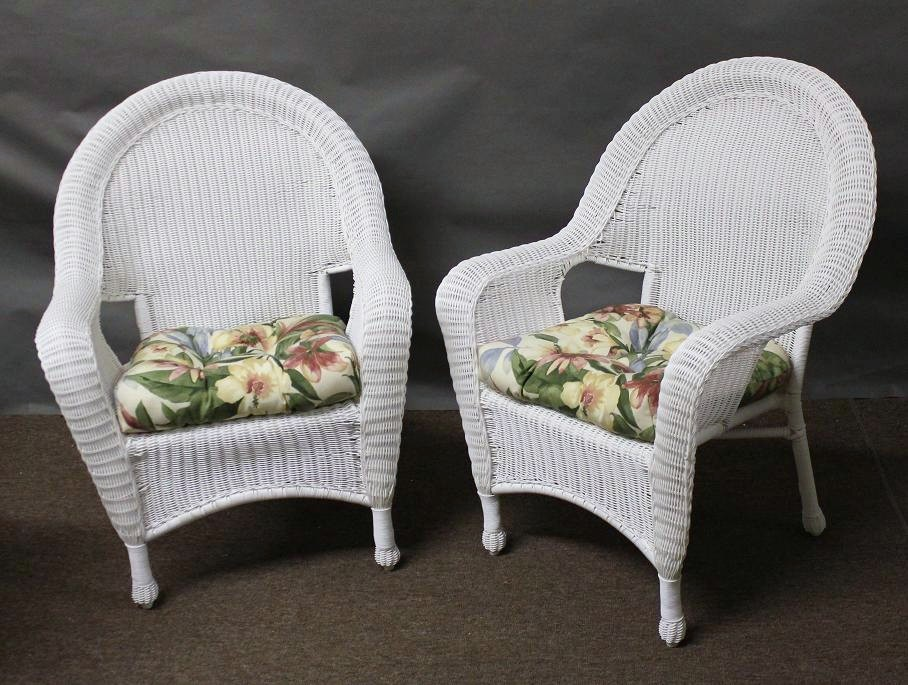 Riviera Outdoor Wicker Chairs - Set of 2