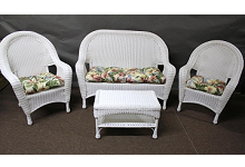 Riviera Outdoor Wicker 4 Piece Seating Set