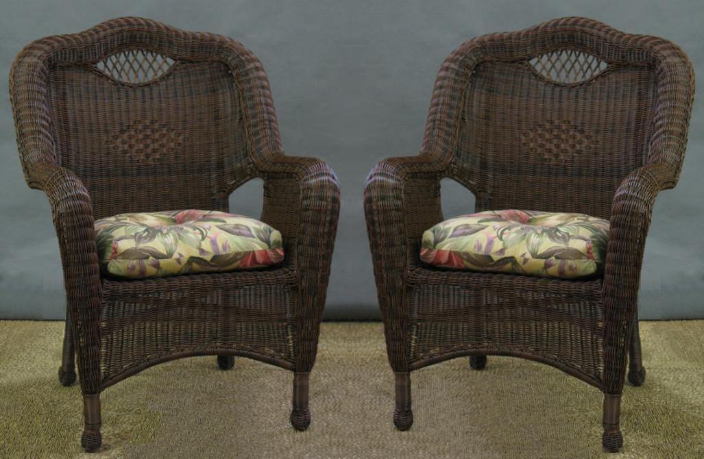 Nice Savannah All Weather Wicker Chairs   Set Of 2 1