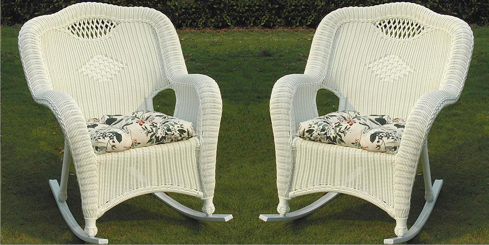 Savannah All Weather Wicker Rockers - Set of 2
