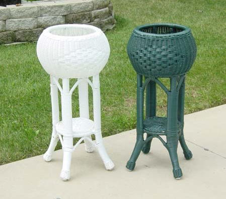 Vineyard Round Outdoor Wicker Planter