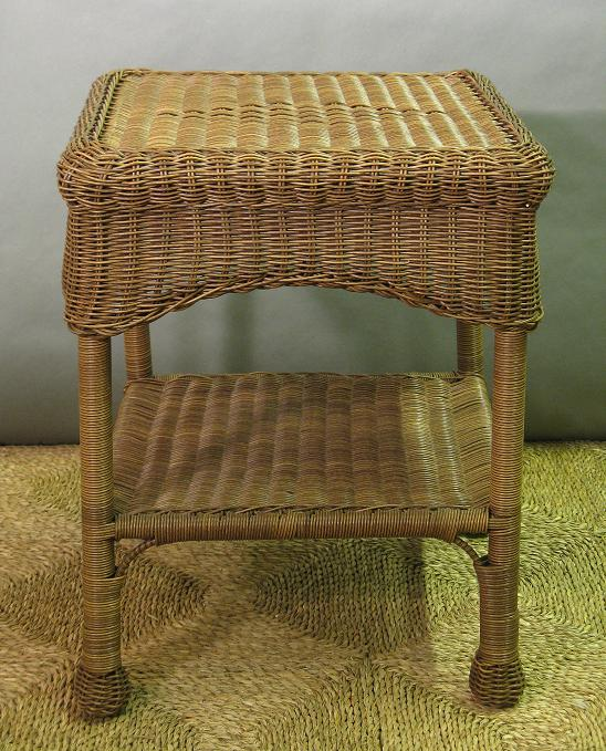 Savannah Square Wicker End Table