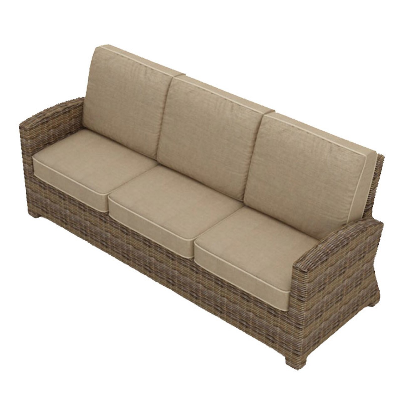 Bainbridge 3 Seater Wicker Sofa
