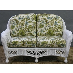 St Lucia Outdoor Wicker Loveseat