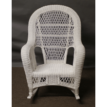 St Lucia High Back Wicker Rocker