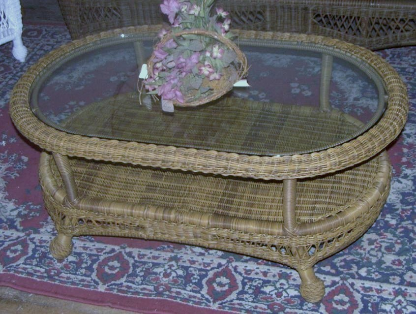 St Lucia Outdoor Wicker Coffee Table