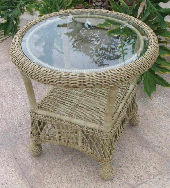 St Lucia Outdoor Wicker End Table