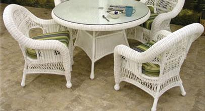 St Lucia Outdoor Wicker Dining Chair - Set of 2