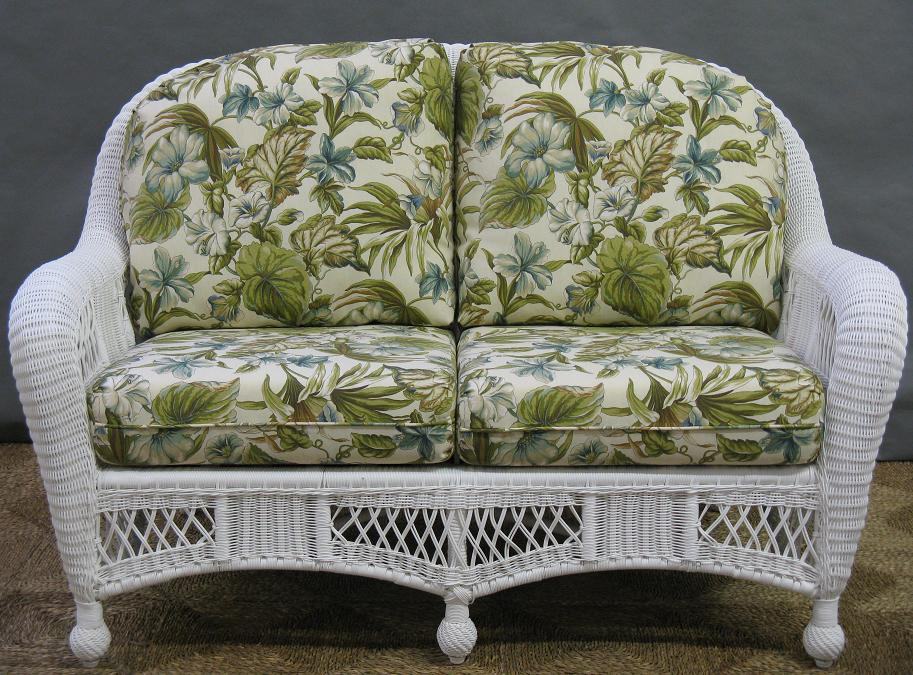 St lucia outdoor wicker loveseat all about wicker Loveseat cushions for outdoor furniture