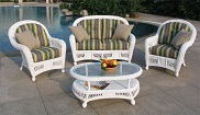 St Lucia 4 Piece Outdoor Wicker Furniture Set
