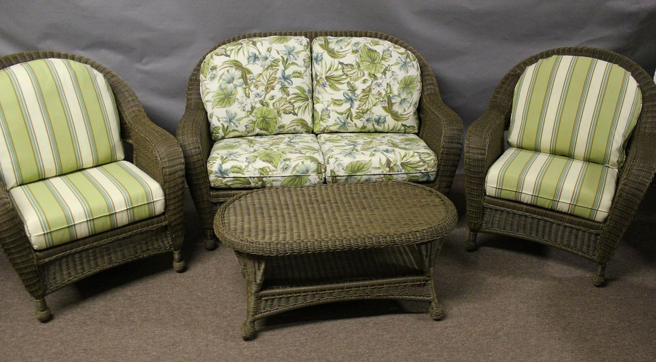 St Thomas 4 Piece Wicker Seating Set