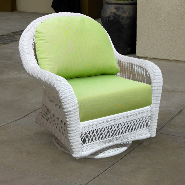St Lucia Outdoor Wicker Swivel Glider Rocker