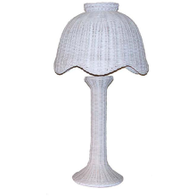 Tulip Style Large Wicker Table Lamp