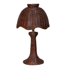 Tulip Style Small Wicker Table Lamp