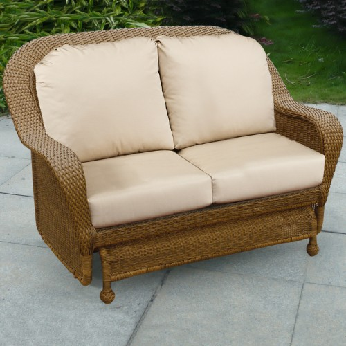 Winward Outdoor Wicker Double Glider