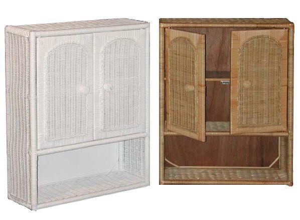 2 Door Wall Cabinet With Bottom Shelf All About Wicker