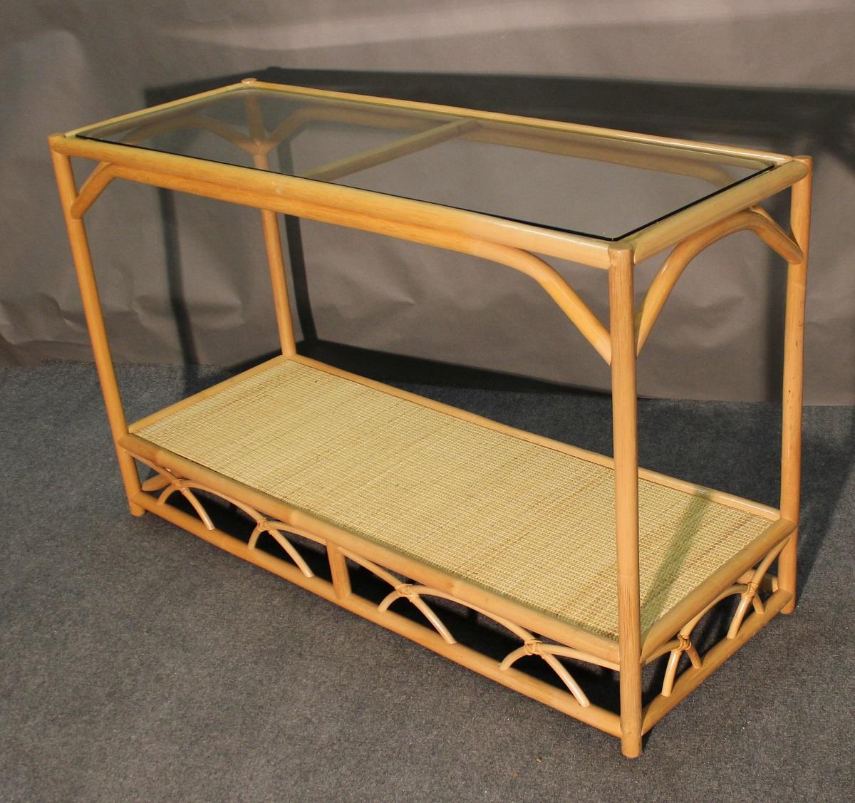 Aruba Rattan Console Sofa Table All About Wicker