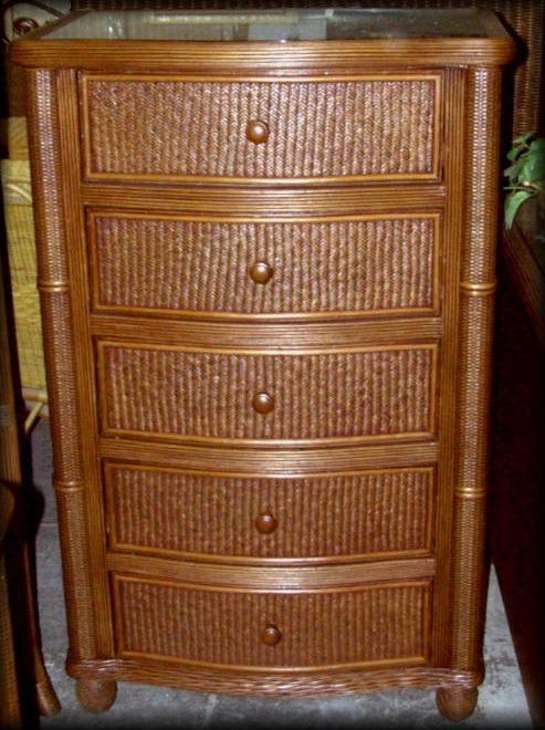 bombay rattan wicker 5 drawer chest all about wicker. Black Bedroom Furniture Sets. Home Design Ideas