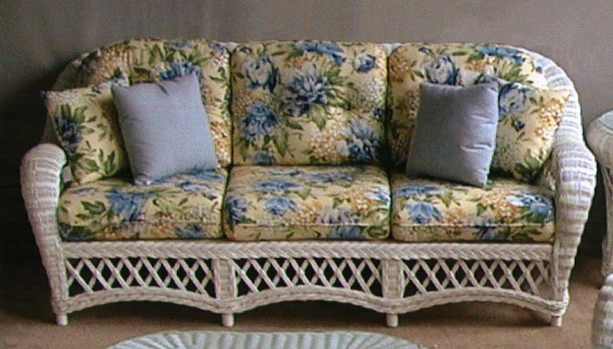 Cape Cod Deep Seating Wicker Sofa