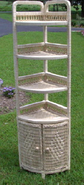 400 Foot Natural Wicker Corner Shelf Available In 40 Colors All Extraordinary Wicker Corner Shelves