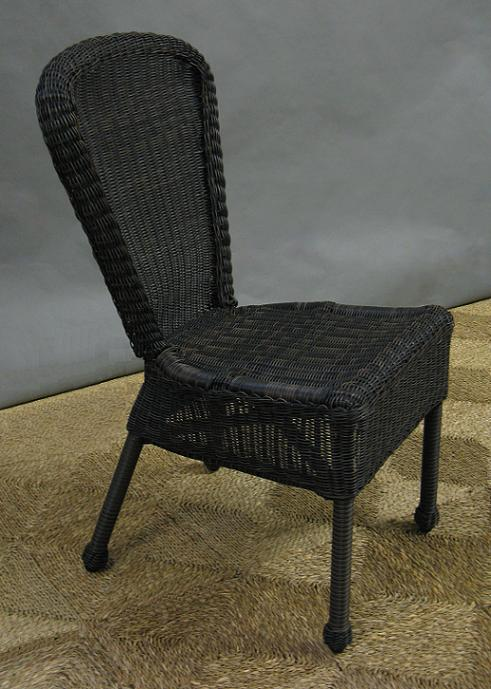 Wicker All Weather Armless Dining Chair All About Wicker