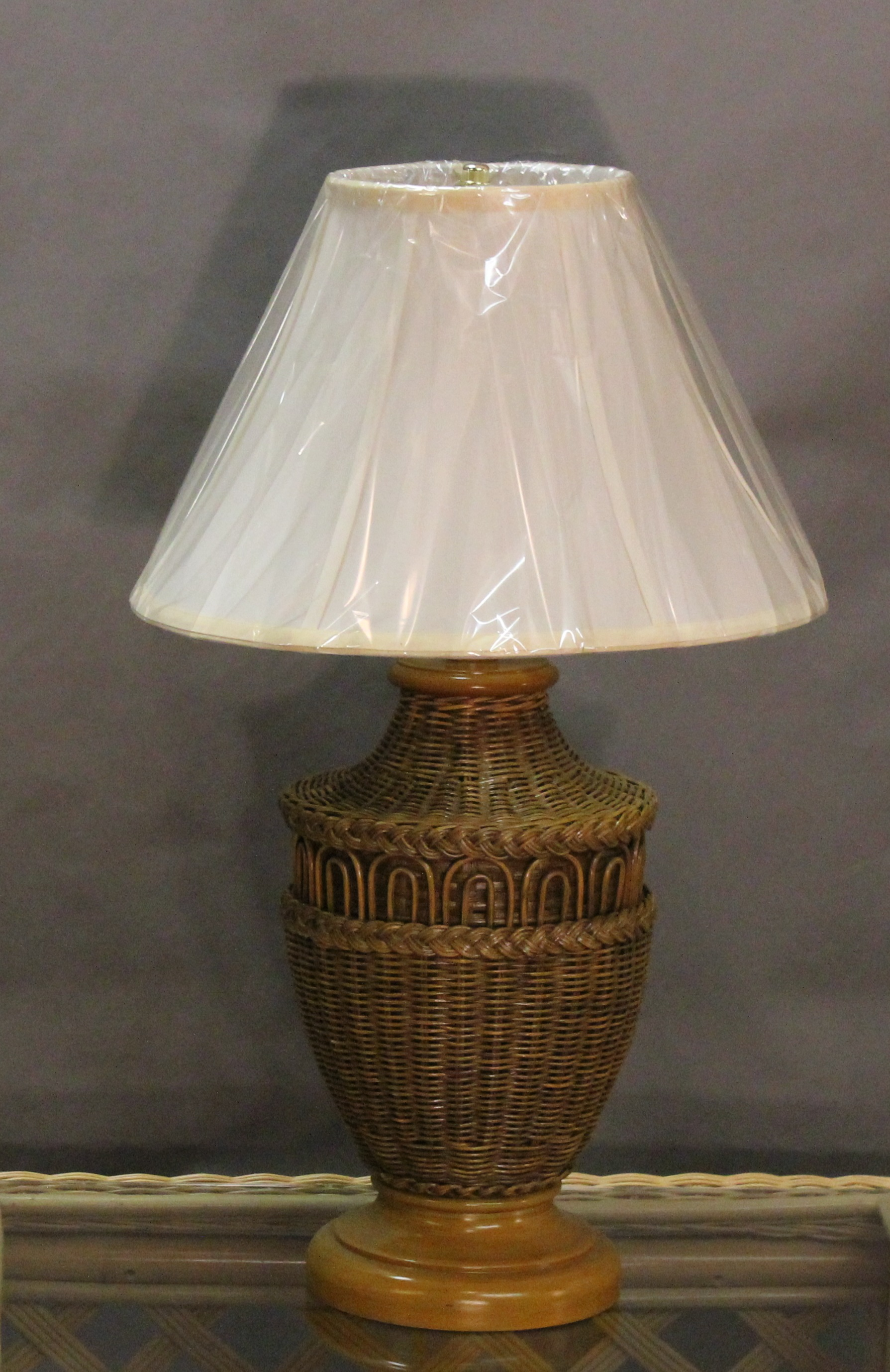 Wicker table lamp with shade all about wicker aloadofball Images