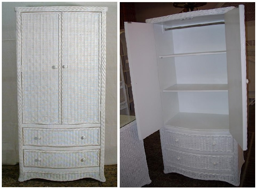 Florentine Wicker Wardrobe All About Wicker
