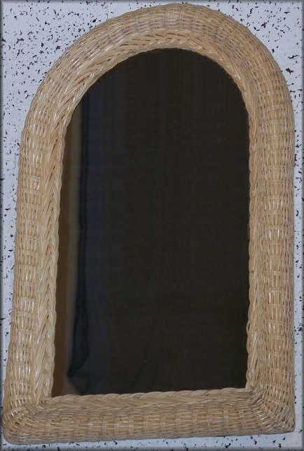 Arched Half Moon Wicker Framed Mirror All About Wicker