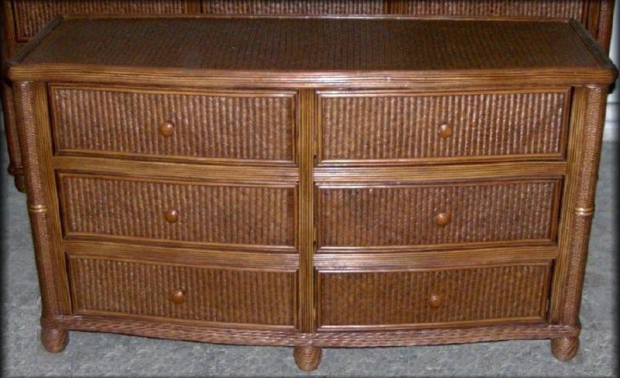 bombay rattan wicker 6 drawer dresser all about wicker. Black Bedroom Furniture Sets. Home Design Ideas