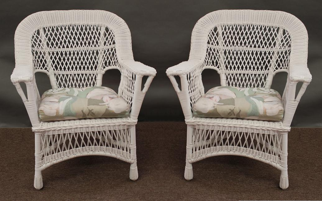 Mackinac All Weather Wicker Chairs Set Of 2 All About Wicker