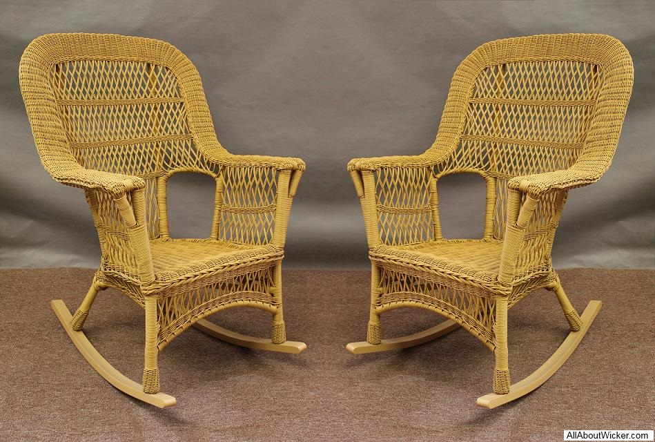 Mackinac All Weather High Back Wicker Rockers Set Of 2 About