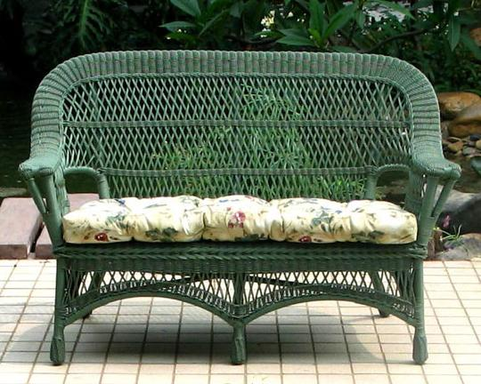 Miraculous Mackinac All Weather Wicker Loveseat Settee All About Wicker Ncnpc Chair Design For Home Ncnpcorg