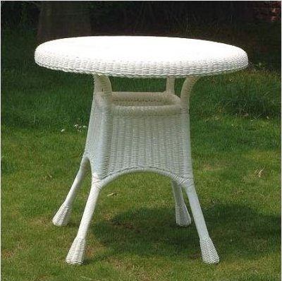 Inch All Weather Outdoor Wicker Dining Table All About Wicker - All weather outdoor dining table