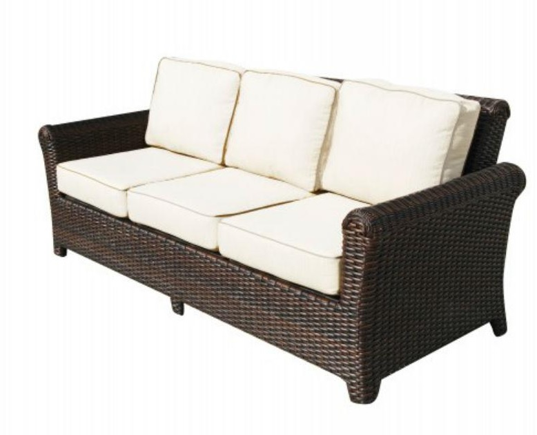 Tisdale Deep Seating Outdoor Wicker Sofa | All About Wicker